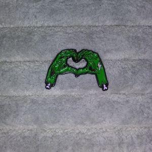 B3G1🆓️ 🆕 Zombie Heart Hands enamel pin